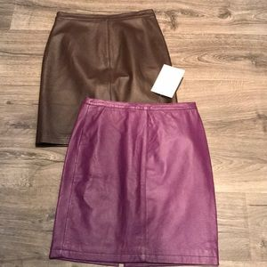 NWT Leather skirt bundle! Size 6   Newport News